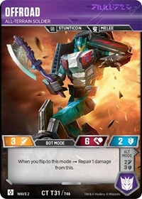 Offroad - All-Terrain Soldier, Transformers TCG, Rise of the Combiners