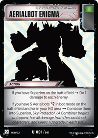 Aerialbot Enigma, Transformers TCG, Rise of the Combiners