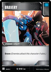 Bravery, Transformers TCG, Rise of the Combiners