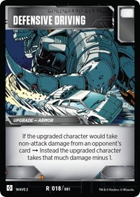 Defensive Driving, Transformers TCG, Rise of the Combiners