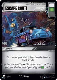 Escape Route, Transformers TCG, Rise of the Combiners