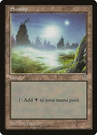 Swamp (Foggy Night), Magic: The Gathering, Mirage