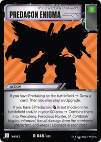 Predacon Enigma, Transformers TCG, Rise of the Combiners