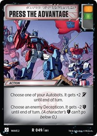 Press The Advantage, Transformers TCG, Rise of the Combiners