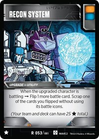 Recon System, Transformers TCG, Rise of the Combiners