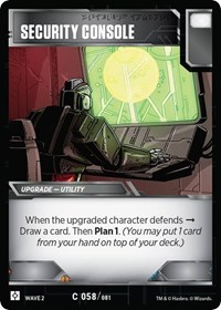 Security Console, Transformers TCG, Rise of the Combiners