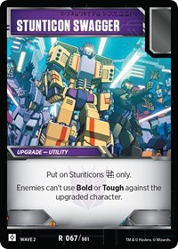 Stunticon Swagger, Transformers TCG, Rise of the Combiners
