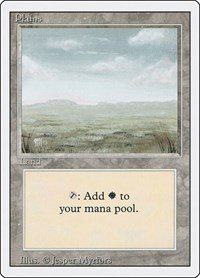 Plains (C), Magic: The Gathering, Revised Edition