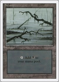 Swamp (C), Magic: The Gathering, Revised Edition