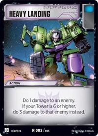 Heavy Landing (Wave 2A - Devastator), Transformers TCG, Rise of the Combiners