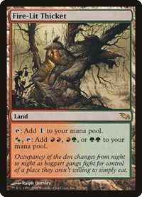 Fire-Lit Thicket, Magic: The Gathering, Shadowmoor