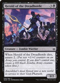 Herald of the Dreadhorde, Magic: The Gathering, War of the Spark