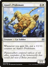 Ajani's Pridemate, Magic: The Gathering, War of the Spark