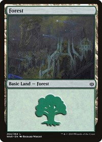 Forest (264), Magic: The Gathering, War of the Spark