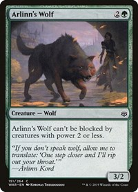 Arlinn's Wolf, Magic: The Gathering, War of the Spark