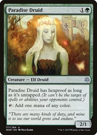 Paradise Druid, Magic: The Gathering, War of the Spark