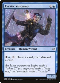 Erratic Visionary, Magic: The Gathering, War of the Spark