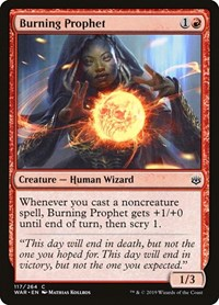 Burning Prophet, Magic: The Gathering, War of the Spark