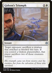 Gideon's Triumph, Magic: The Gathering, War of the Spark