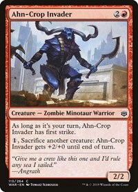 Ahn-Crop Invader, Magic: The Gathering, War of the Spark