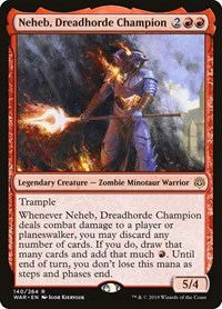 Neheb, Dreadhorde Champion, Magic: The Gathering, War of the Spark