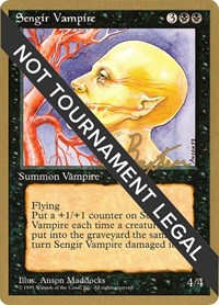 Sengir Vampire - 1996 George Baxter (4ED), Magic: The Gathering, World Championship Decks