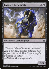 Lazotep Behemoth, Magic: The Gathering, War of the Spark