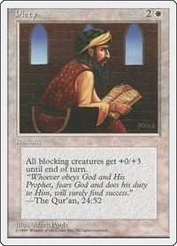 Piety, Magic, Fourth Edition