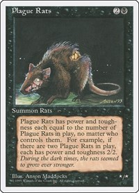 Plague Rats, Magic: The Gathering, Fourth Edition