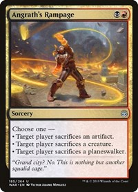 Angrath's Rampage, Magic: The Gathering, War of the Spark