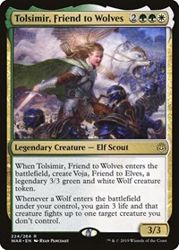 Tolsimir, Friend to Wolves, Magic: The Gathering, War of the Spark