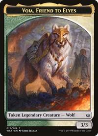 Voja, Friend to Elves Token, Magic: The Gathering, War of the Spark