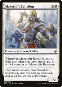 Makeshift Battalion, Magic: The Gathering, War of the Spark