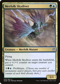 Merfolk Skydiver, Magic: The Gathering, War of the Spark