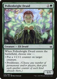 Pollenbright Druid, Magic: The Gathering, War of the Spark