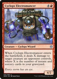 Cyclops Electromancer, Magic: The Gathering, War of the Spark