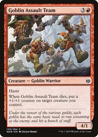 Goblin Assault Team, Magic: The Gathering, War of the Spark