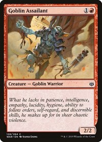 Goblin Assailant, Magic: The Gathering, War of the Spark