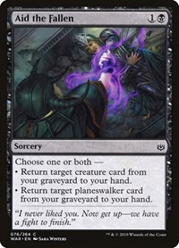 Aid the Fallen, Magic: The Gathering, War of the Spark