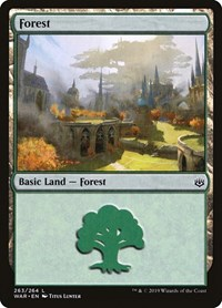 Forest (263), Magic: The Gathering, War of the Spark