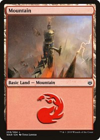 Mountain (259), Magic: The Gathering, War of the Spark