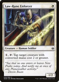 Law-Rune Enforcer, Magic, War of the Spark