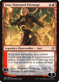 Jaya, Venerated Firemage, Magic: The Gathering, War of the Spark