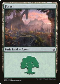Forest (262), Magic: The Gathering, War of the Spark
