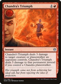 Chandra's Triumph, Magic: The Gathering, War of the Spark