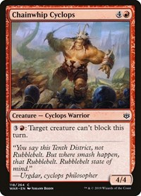 Chainwhip Cyclops, Magic: The Gathering, War of the Spark