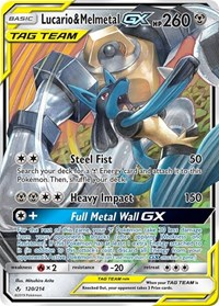 Lucario & Melmetal GX, Pokemon, SM - Unbroken Bonds