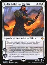 Gideon, the Oathsworn, Magic: The Gathering, War of the Spark