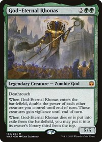 God-Eternal Rhonas, Magic: The Gathering, War of the Spark