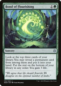 Bond of Flourishing, Magic: The Gathering, War of the Spark